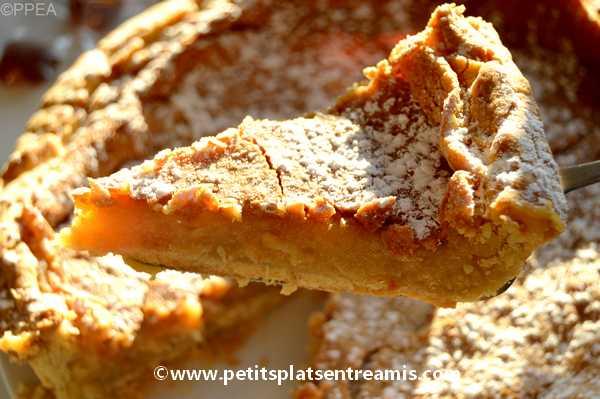 Part de tarte au sucre et sirop d'érable du Québec