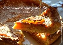 Tarte au sucre et sirop d'érable du Québec