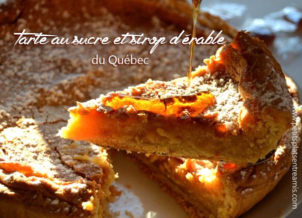 Tarte-au-sucre-et-sirop-d'érable-du-Québec