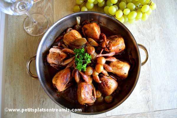 cailles aux raisins recette
