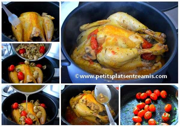 cuisson poulet aux champignons