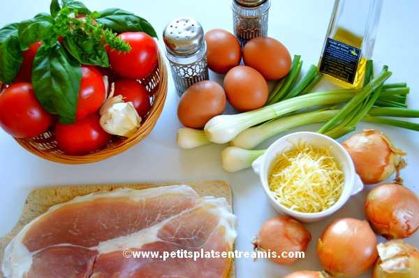 ingrédients oeufs à la castillane