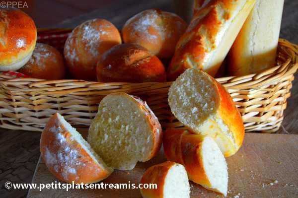petits pains maison tranchés