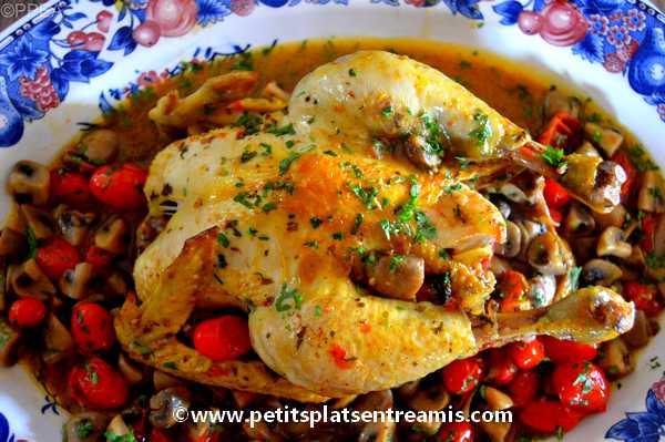 poulet aux champignons recette