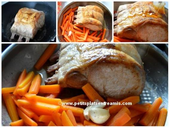 préparation carré de porc en persillade