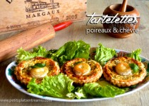 Tartelettes poireaux et chèvre