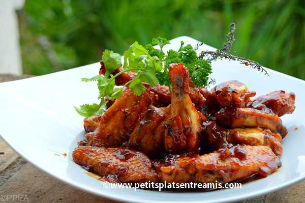 ailerons de poulet laqués recette