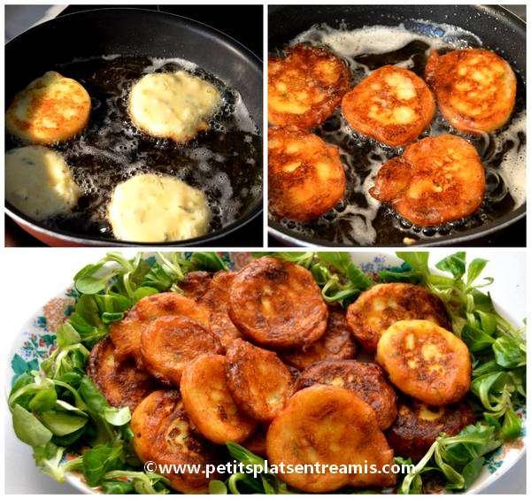 cuisson galettes de pommes de terre et chèvre