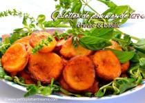 Galettes de pommes de terre au chèvre et basilic