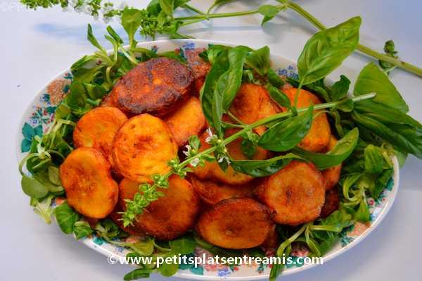 galettes de pommes de terre au chèvre et basilic recette