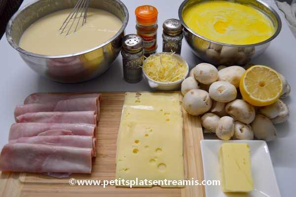 ingrédients crêpes-gratinées-jambon-et-fromage