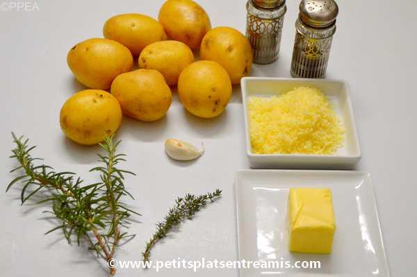 ingrédients pour émincé-de-pommes-de-terre-à-l'emmental