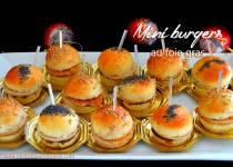 Mini burgers au foie gras