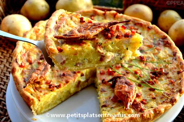part de tarte aux pommes de terre & lardons