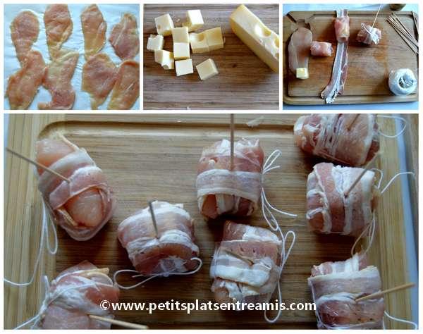 préparation ballotines au poulet