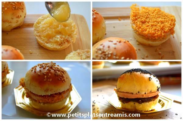 préparation mini burgers au foie gras