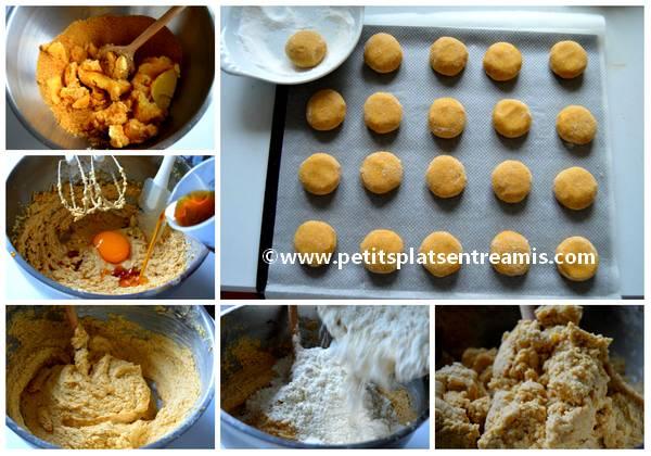 préparation sablés moelleux au sirop d'érable