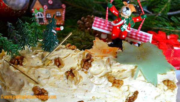 recette bûche de Noël au sirop d'érable
