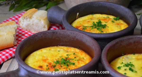 recette cassolettes de poulet au fromage