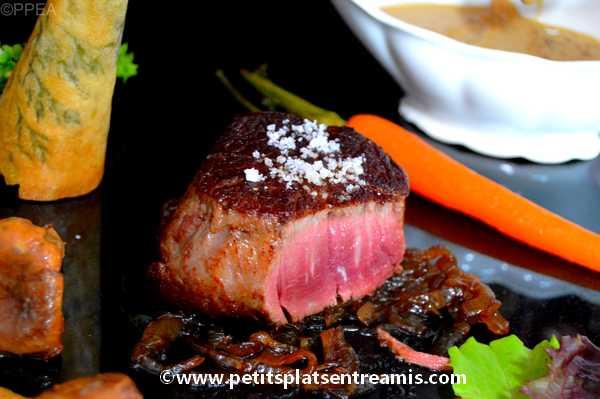 recette tournedos de filet de Galice sauce foie gras