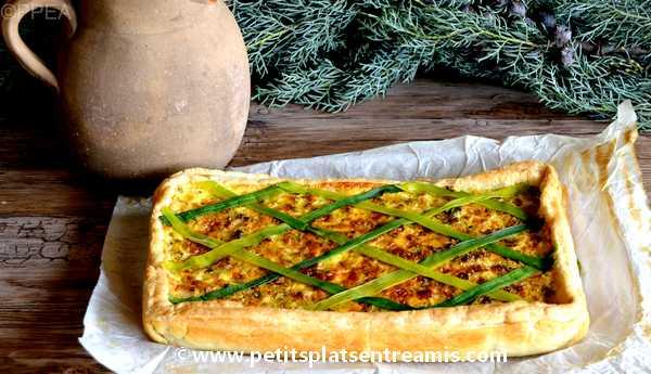 tarte paysanne aux poireaux recette