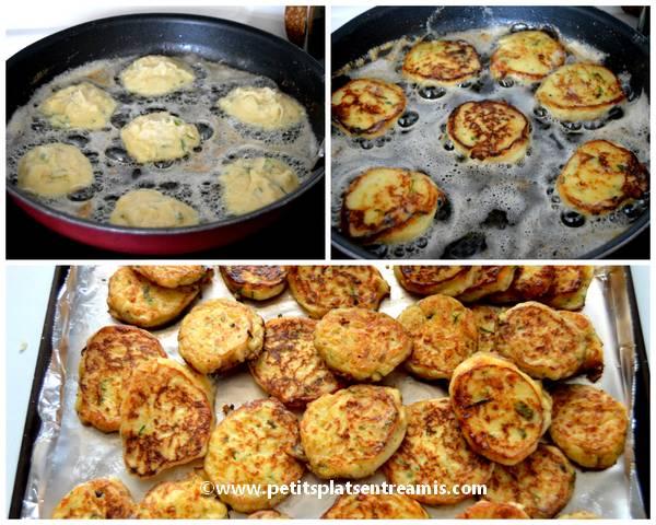 cuisson galettes de pommes de terre au fromage