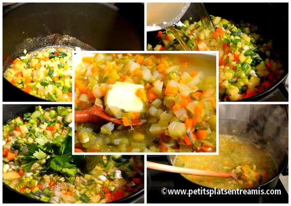 cuisson soupe de légumes