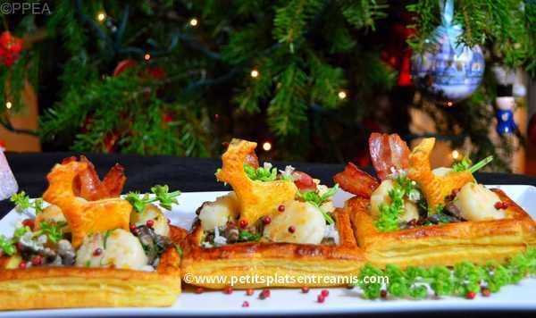 feuilletés de Saint-Jacques aux champignons recette