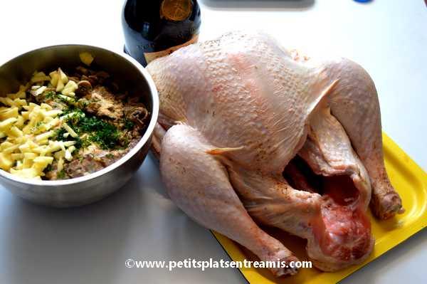 ingrédients dinde farcie au foie gras