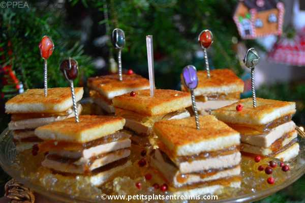 minis sandwiches au foie gras recette