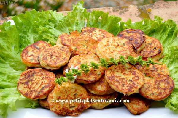 petites galettes de pommes de terre au fromage recette