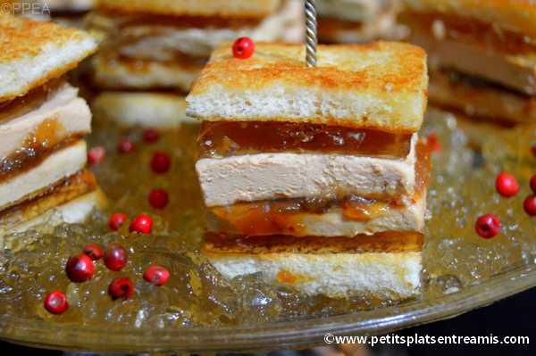 recette minis sandwiches au foie gras