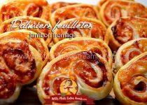 Palmiers feuilletés jambon fromage