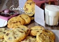 Cookies chocolat au lait & noix de pécan