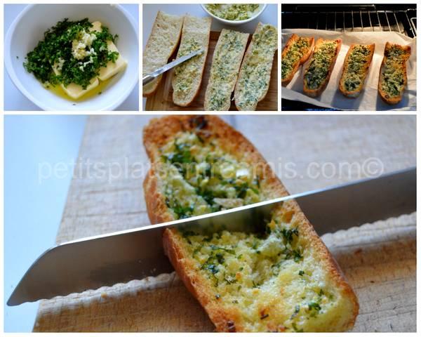 cuisson pain à l'ail