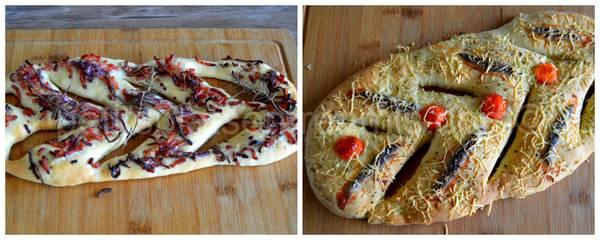 fougasses lardons et anchois