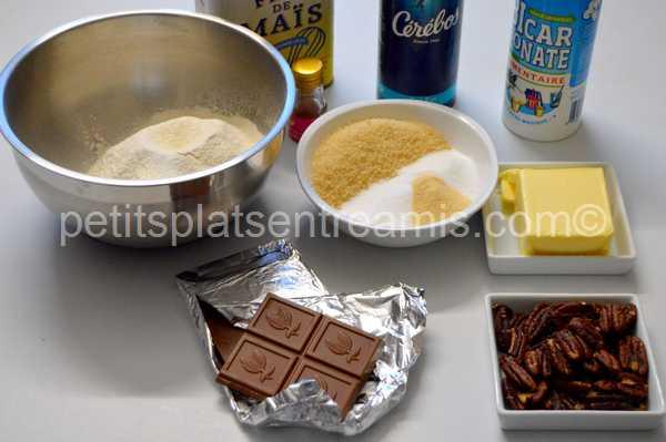 ingrédients cookies-chocolat-au-lait-et-noix-de-pécan
