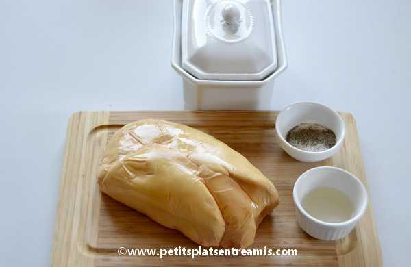 ingrédients foie gras maison