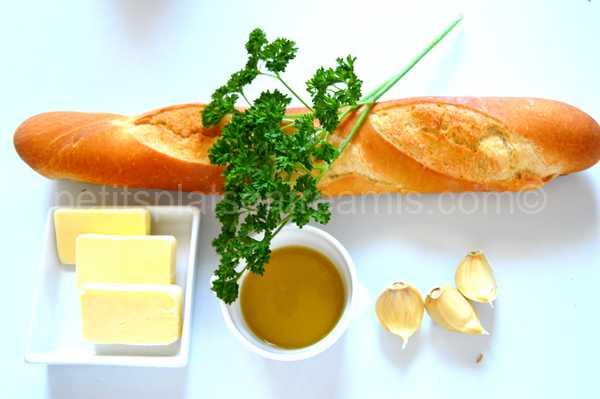 ingrédients pain-à-l'ail
