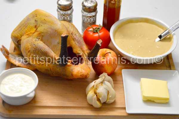 ingrédients pintade sauce foie gras