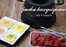 Fondue bourguignonne aux 4 sauces