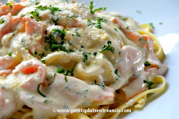recette pâtes-au-saumon