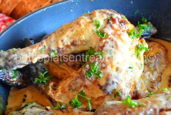 recette pintade sauce foie gras