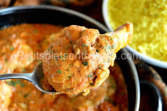 Bouchée de poulet tikka massala