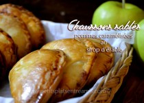 Chaussons sablés aux pommes caramélisées au sirop d'érable.