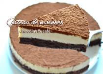 Gâteau de mousses chocolat et café