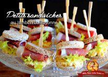 Petits sandwiches au jambon de Bayonne