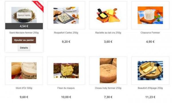 Quelques uns des fromages proposés