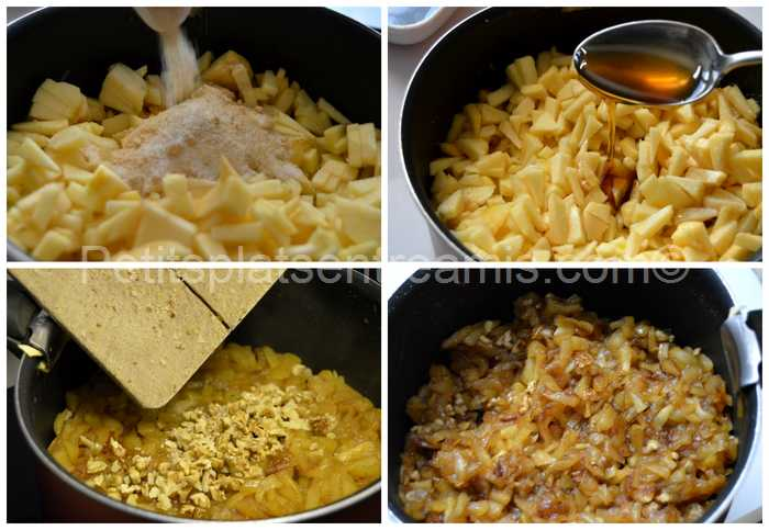 cuisson compotée de pommes pour chaussons