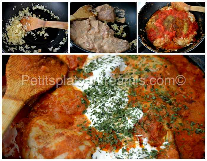 cuisson poulet tikka massala
